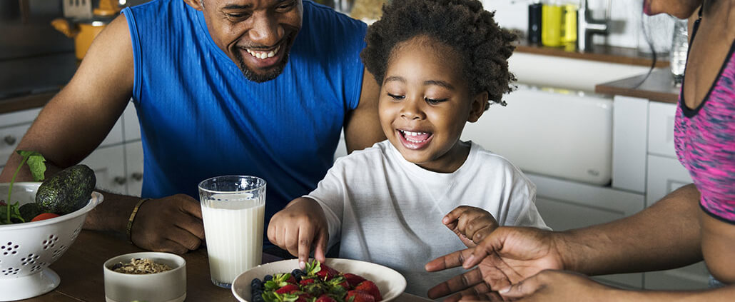 child eating vegies